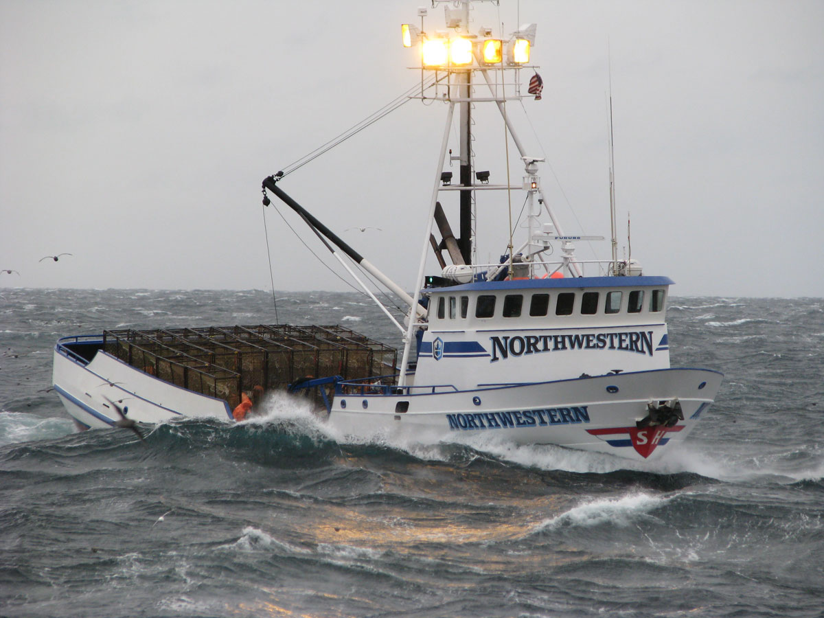 The boat f v northwestern for Bering sea fishing